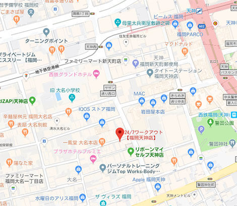 247ワークアウト福岡地図