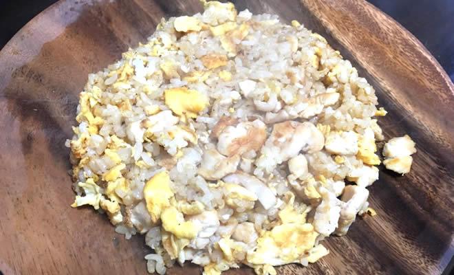 玄米・鶏肉