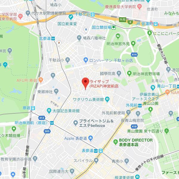 RIZAP東京神宮前店の地図