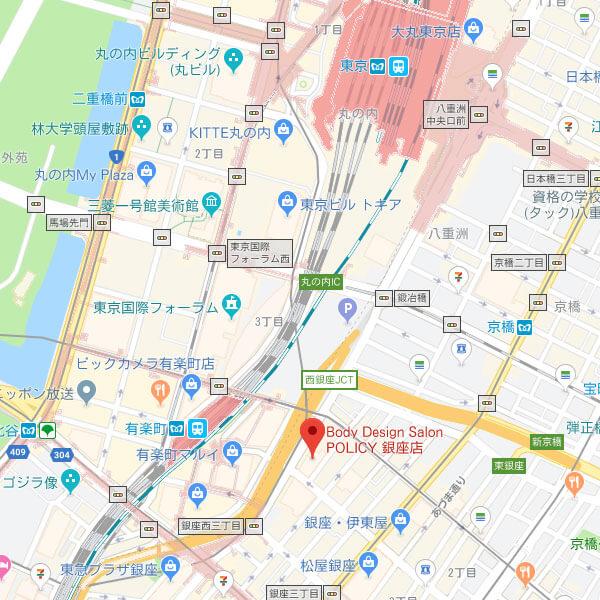 POLICY銀座店の地図